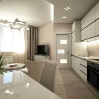 вариант яркого интерьера кухни 9 кв.м картинка