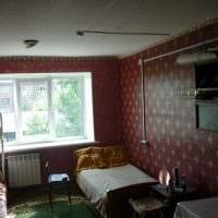 идея красивого дизайна маленькой комнаты в общежитии фото