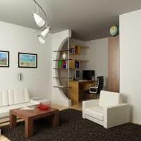 идея красивого интерьера двухкомнатной квартиры в хрущевке фото