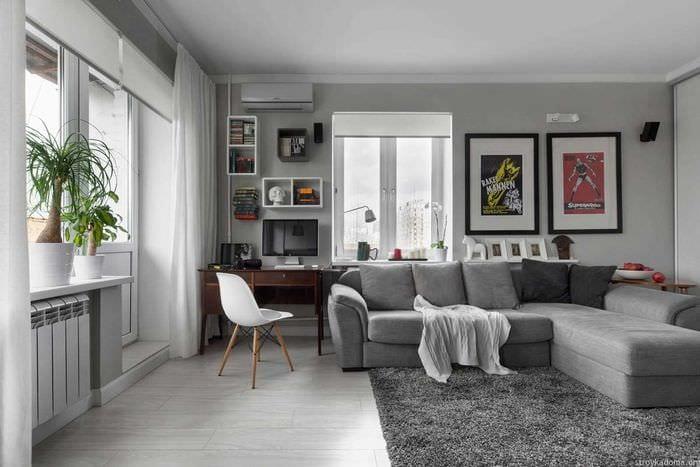 вариант светлого дизайна квартиры