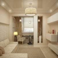 идея светлого декора гостиной спальни картинка