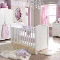 вариант светлого декора детской комнаты для девочки 12 кв.м картинка