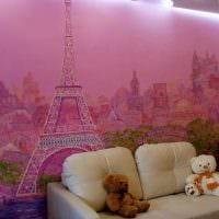 идея светлого стиля дома с росписью стен фото
