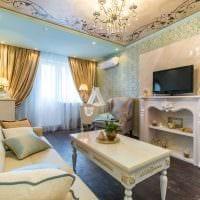 вариант яркого стиля спальни гостиной 20 кв.м. картинка
