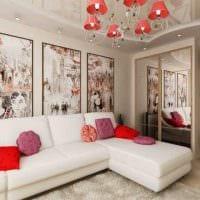 идея необычного интерьера гостиной спальни 20 кв.м. фото