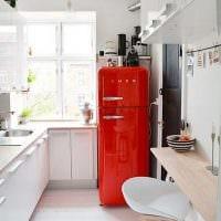 пример необычного дизайна кухни 8 кв.м фото