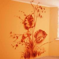 вариант яркого дизайна дома с росписью стен картинка