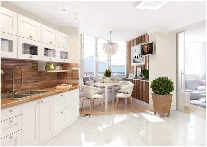 вариант светлого дизайна квартиры в скандинавском стиле