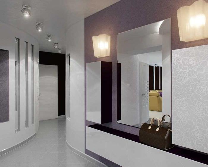 вариант светлого интерьера современной прихожей комнаты