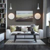 идея яркого декора гостиной спальни 20 кв.м. фото