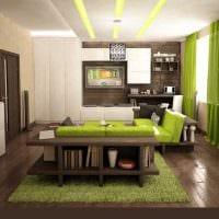 вариант необычного сочетания цвета в интерьере современной комнаты фото