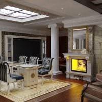 идея светлого стиля дома в романском стиле фото