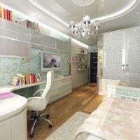 идея красивого дизайна комнаты для девочки 12 кв.м фото