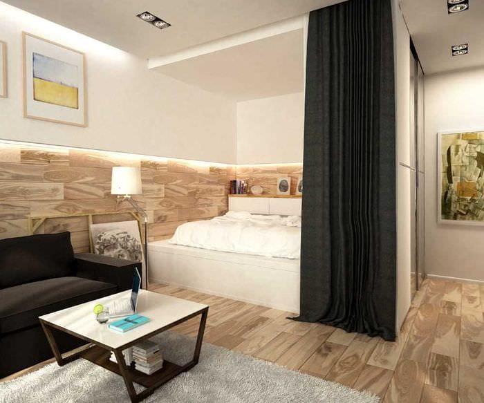 идея яркого декора квартиры студии
