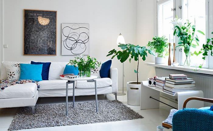 идея красивого интерьера комнаты в скандинавском стиле