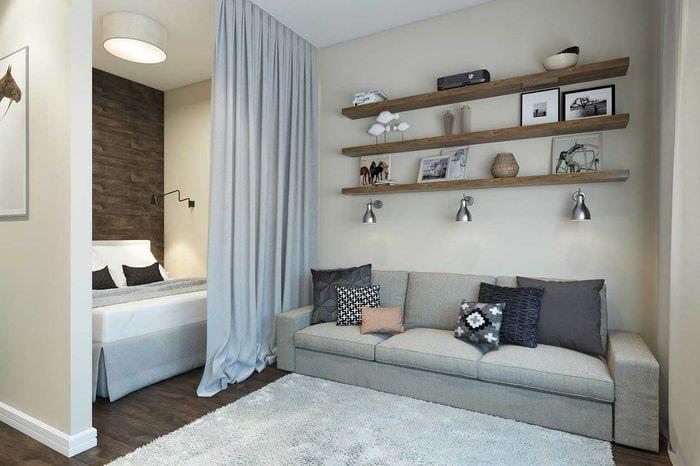 идея необычного стиля квартиры студии