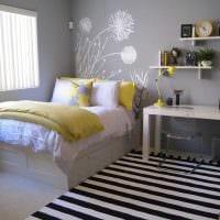 вариант необычного декора спальной комнаты для девочки в современном стиле фото