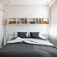 идея красивого дизайна гостиной спальни 20 кв.м. фото