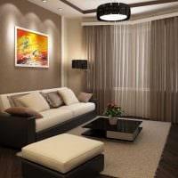 идея необычного интерьера гостиной комнаты 18 кв.м. картинка