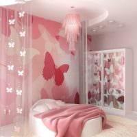 вариант необычного дизайна детской комнаты для девочки 12 кв.м картинка