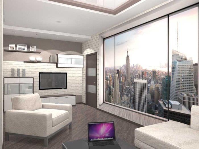 вариант яркого стиля двухкомнатной квартиры