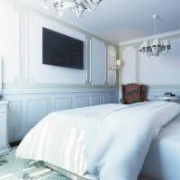 вариант красивого стиля спальной комнаты 18 кв.м. фото