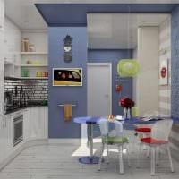 вариант светлого интерьера кухни 8 кв.м фото