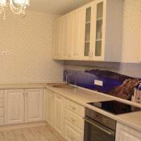 вариант красивого стиля кухни 9 кв.м фото