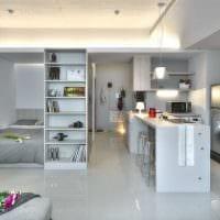 вариант светлого дизайна квартиры студии фото