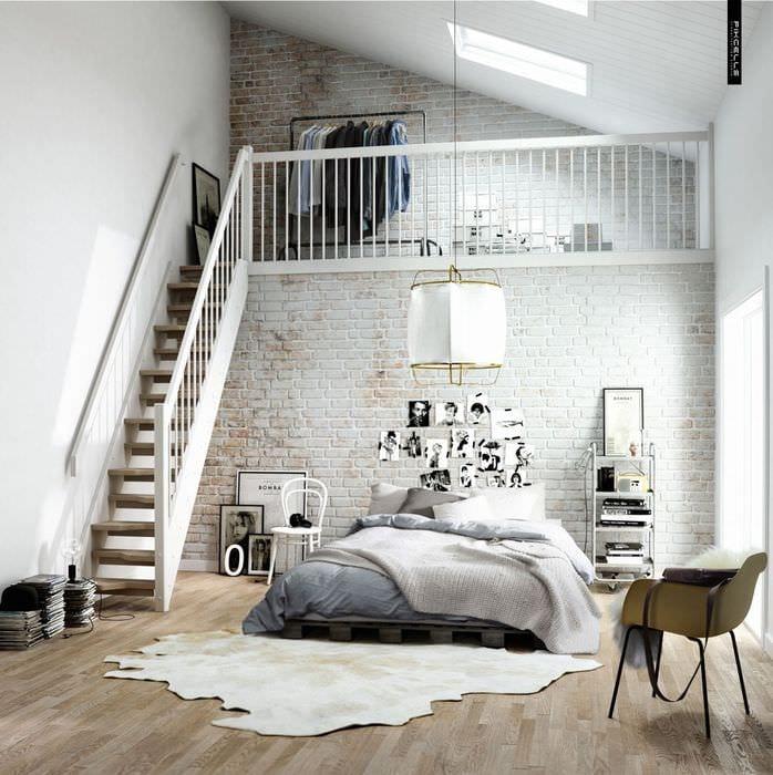 идея яркого дизайна комнаты в скандинавском стиле