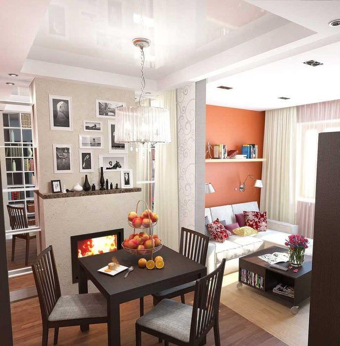 идея красивого дизайна малогабаритной комнаты