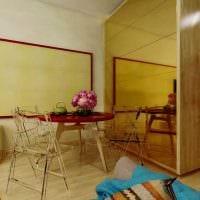 идея светлого дизайна гостиной спальни фото