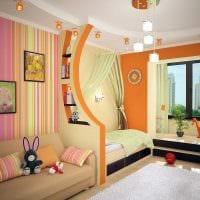 вариант яркого декора детской комнаты для двоих детей картинка