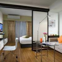 вариант необычного интерьера спальни гостиной картинка