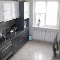 пример необычного интерьера кухни 14 кв.м фото
