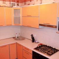 вариант необычного декора кухни 9 кв.м фото