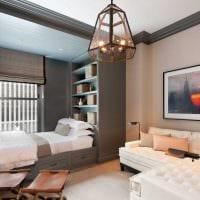 вариант необычного стиля небольшой комнаты в общежитии картинка