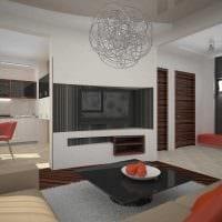 вариант яркого интерьера маленькой комнаты фото