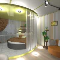 вариант красивого декора небольшой комнаты в общежитии фото