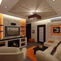 идея светлого стиля гостиной комнаты 18 кв.м. картинка