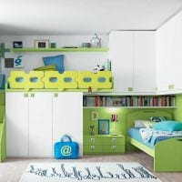 вариант светлого декора детской комнаты для девочки 12 кв.м фото