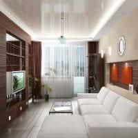вариант необычного интерьера спальни гостиной 20 кв.м. картинка