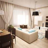 идея красивого интерьера гостиной спальни 20 кв.м. фото