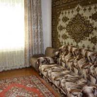 идея необычного дизайна квартиры в советском стиле фото