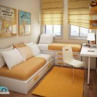 идея светлого стиля небольшой комнаты в общежитии картинка