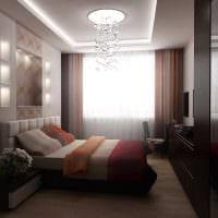 вариант светлого стиля гостиной спальни 20 кв.м. картинка