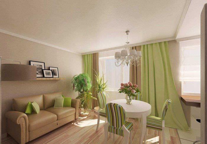 идея красивого сочетания цвета в стиле современной комнаты