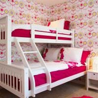 вариант красивого интерьера детской комнаты для двоих девочек фото