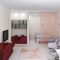вариант яркого дизайна двухкомнатной квартиры картинка