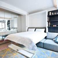 идея необычного дизайна спальни гостиной 20 кв.м. фото
